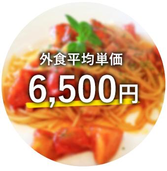 外食平均単価 6,500円