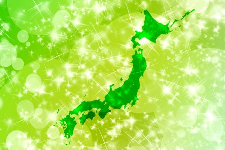 日本地図 緑