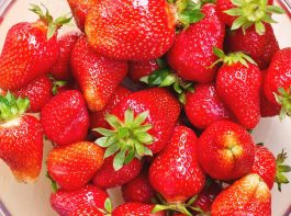 fresh, strawberries , bowl, Joanna Malinowska