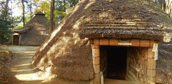 縄文時代の住居を再現 (1)