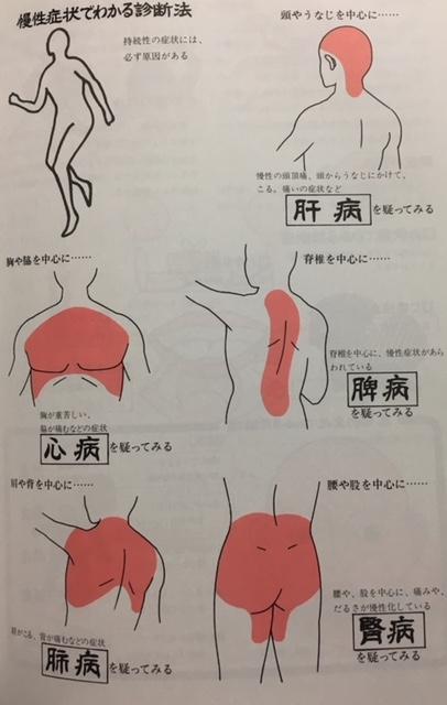 病証の分布図