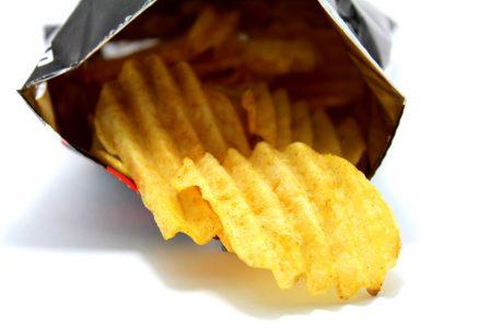 Closeup Potatoe Food Snack Bowl Junk Snacking