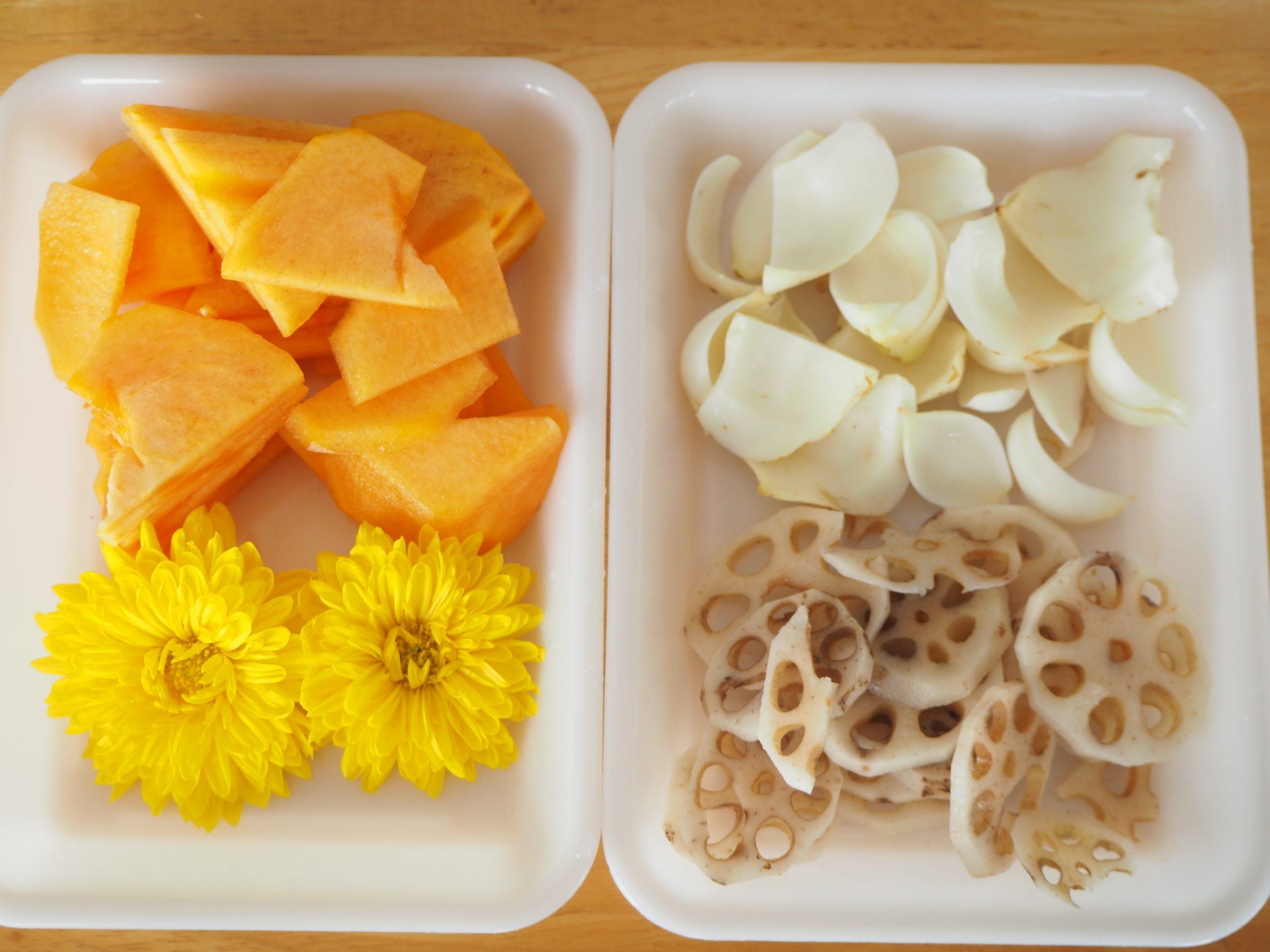 胡麻酢和え材料