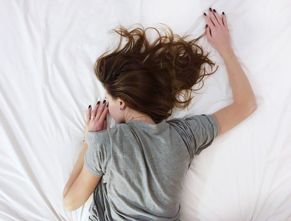 People Girl Sheet White Room Sleep Bed Woman