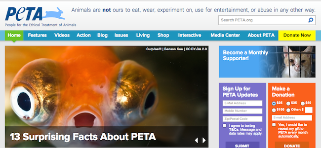 People for the Ethical Treatment of Animals  PETA   The animal rights organization
