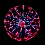 Static Electricity Electric Neon Plasma Ball Dark