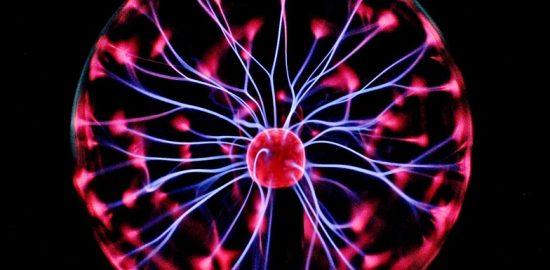 Static Electricity Electric Neon Plasma Ball Dark