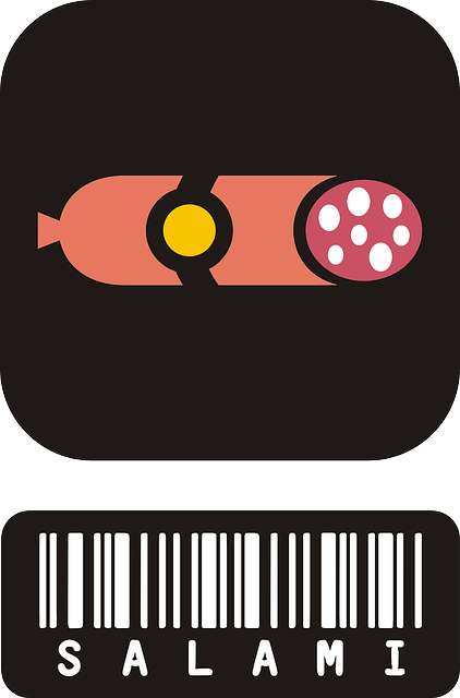 サラミとバーコード