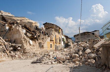 地震被災地