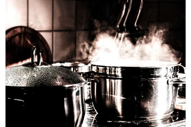 沸騰させたお湯
