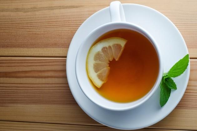lemon hot tea