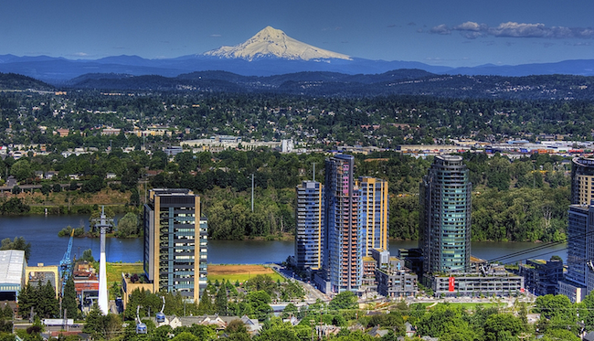 0195 Portland Oregon with Mount Hood in the background   Flickr - Photo Sharing!