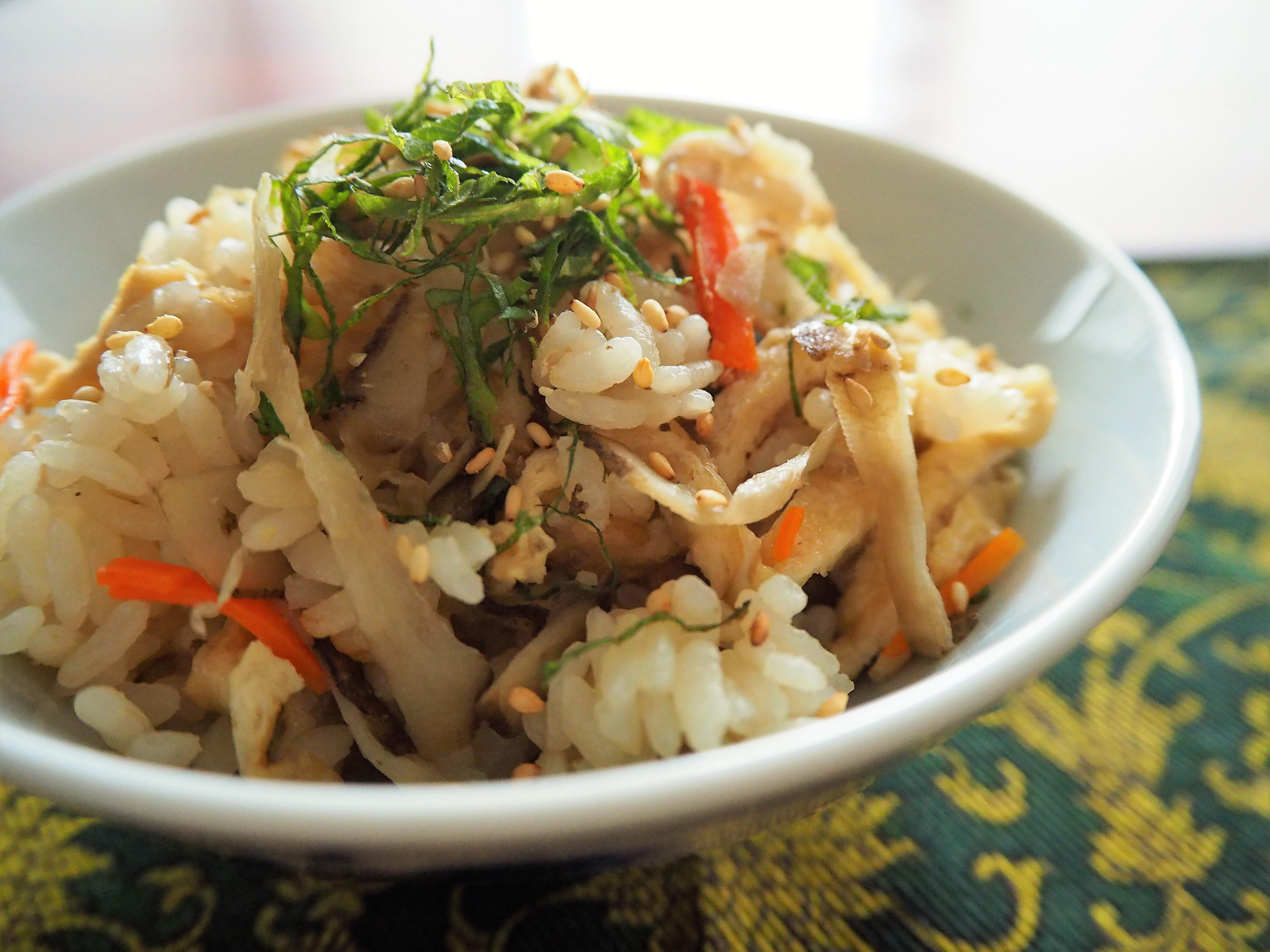 食物繊維たっぷり「腎」機能を高める旬の「ごぼうご飯」の作り方