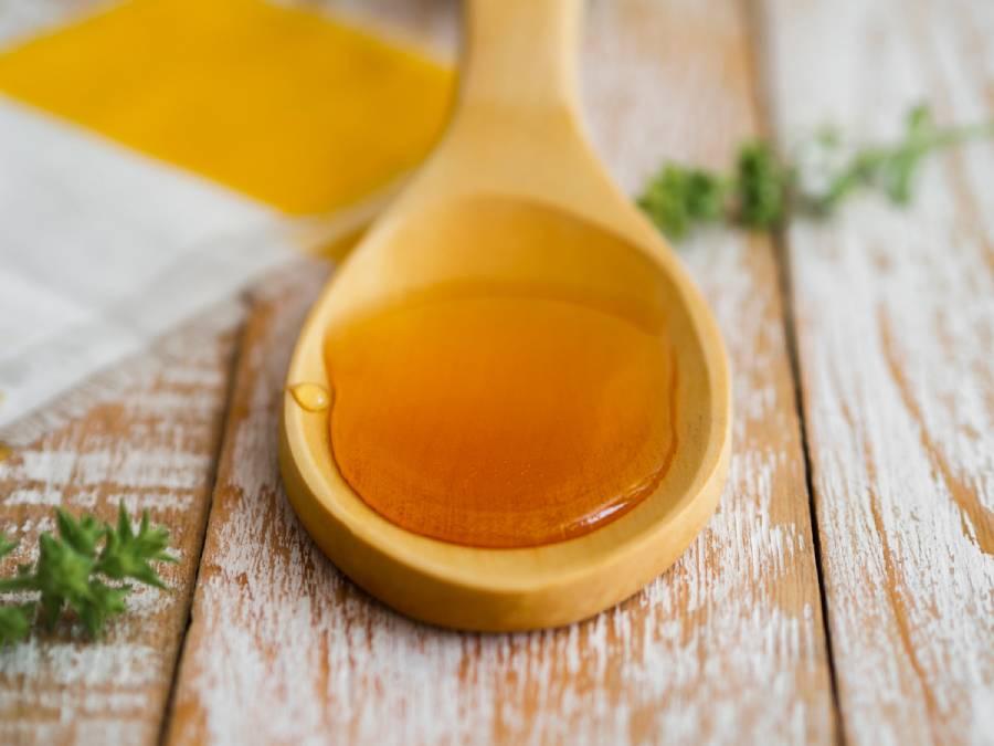 Honey in a spoon