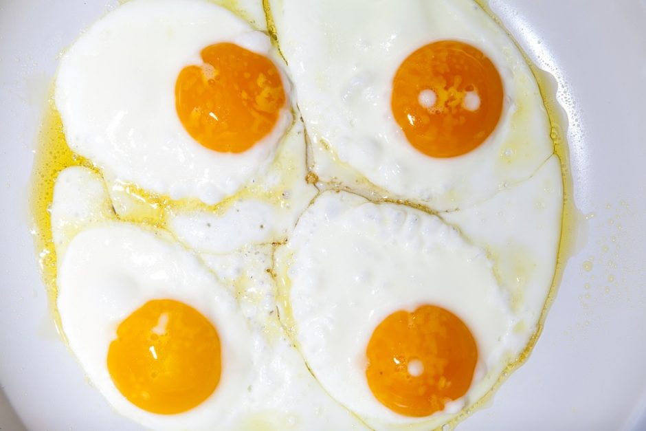 Breakfast Pan Yolk Food Egg Eat Protein Cook