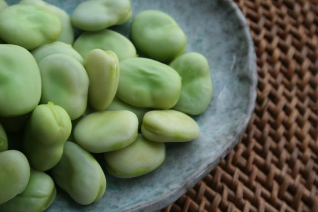 broad beans after cooking