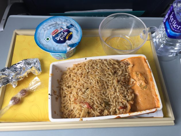 jet airways domestic in flight meal, july 2016