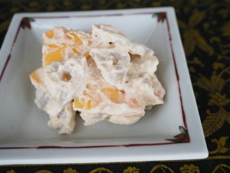 白和え 梨柿蓮根