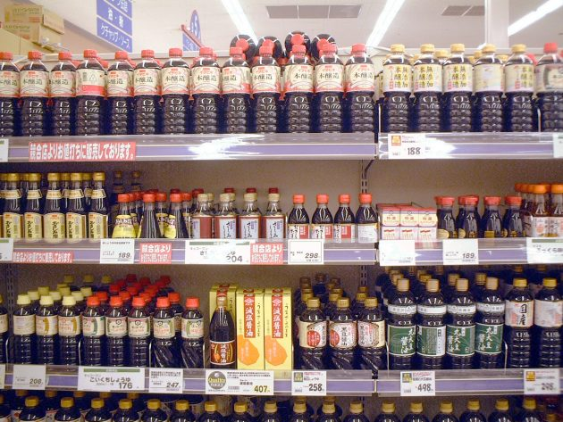 soy sauce in supermarket