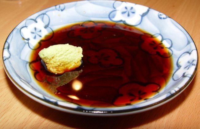 wasabi in shoyu