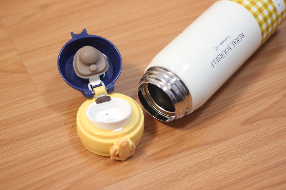 water glasses hot water bottle yellow vacuum flask
