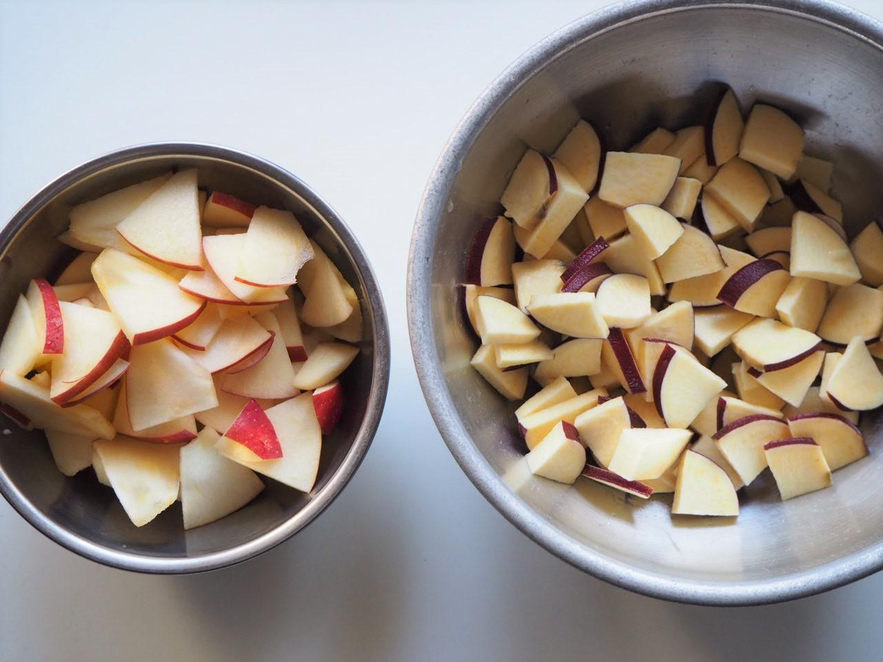 林檎とサツマイモ
