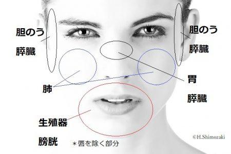 しみ 女性顔 反射区