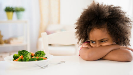 girl, african american, youth, child, picky, eater, picky eater, vegetables, food, eat, disgusted, veggies, table, wont eat