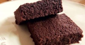 砂糖不使用!5分で完成!冷やして食べる濃厚『焼かないブラウニー』。ローカーボでグルテンフリーなミネラル補給おやつ。