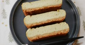 爽やかなレモングラス入り!チーズなし、ヴィーガン仕様のベイクドチーズケーキの作り方。