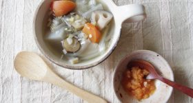 年末年始の疲れた体に染み渡る。 離乳食にも使える、簡単養生スープの作り方。