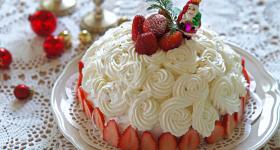 卵、バター、クリーム不使用!みんなが喜ぶ、ゴージャスなクリスマスケーキの作り方