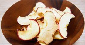 材料1つだけ!超簡単なパリパリ「りんごチップス」の作り方|えっこれだけでいいの?!