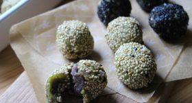 マクロビ和菓子レシピ。モリンガで栄養満点!香ばし「ゴマ団子」の作り方